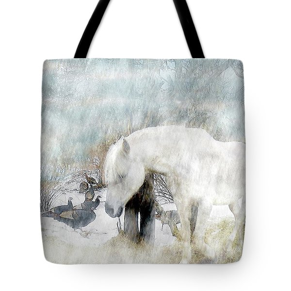 Magical Moments On A Snowy Winter's Day Tote Bag