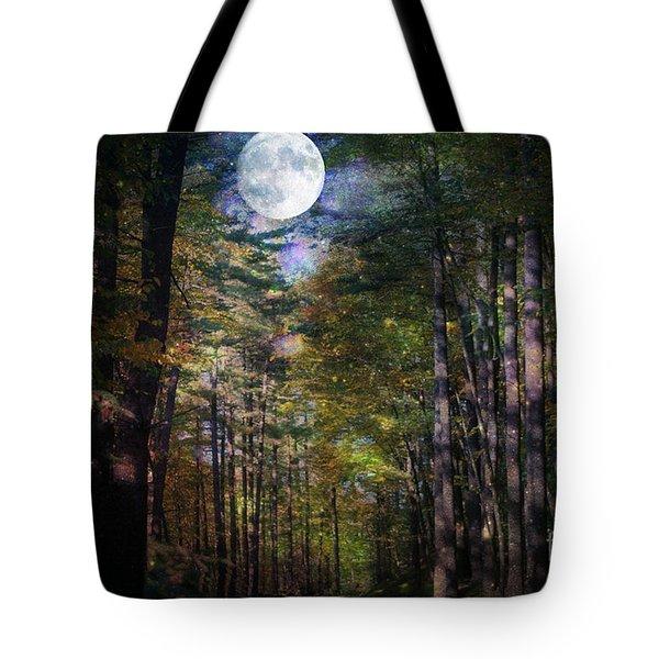 Magical Moonlit Forest Tote Bag