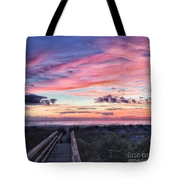 Tote Bag featuring the photograph Magical Morning by LeeAnn Kendall