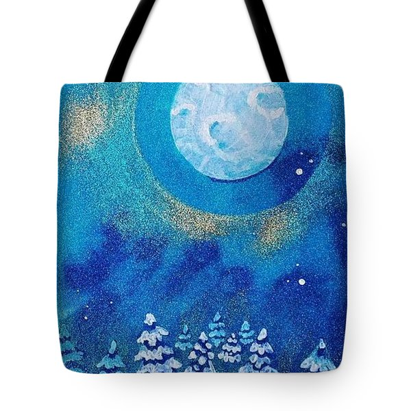 Magical Night At The Cabin Tote Bag