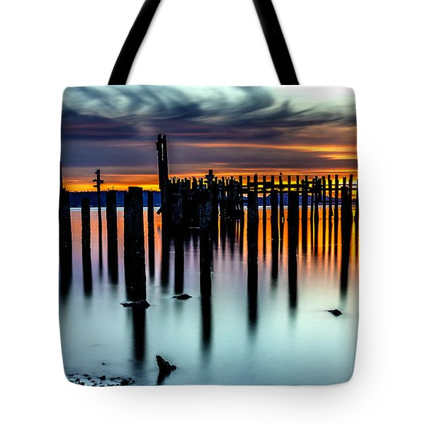 Magical Sunset Titlow Beach Tacoma Wa Tote Bag