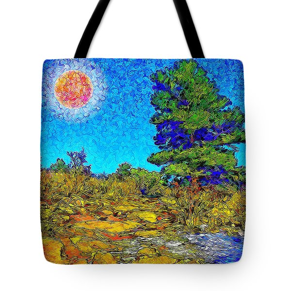 Tote Bag featuring the digital art Sparkling Mountain Sunshine - Boulder County Colorado by Joel Bruce Wallach