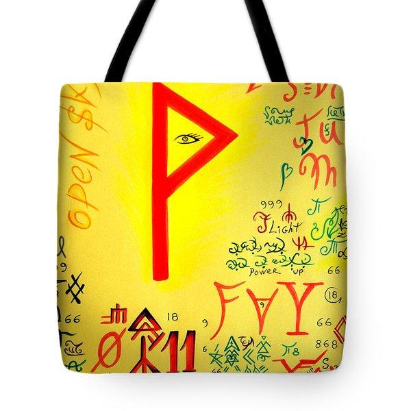 Magical Symbol - Wunjo Rune - Wekhtar Tote Bag