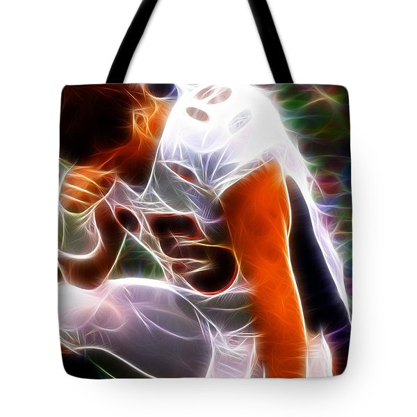 Magical Tebowing Tote Bag by Paul Van Scott