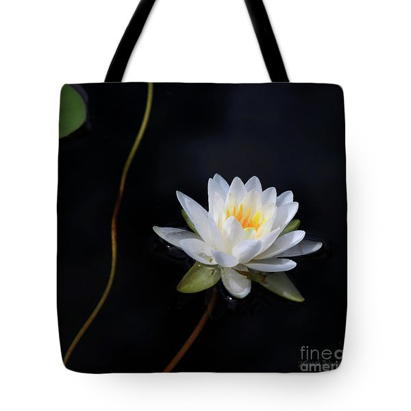 Tote Bag featuring the photograph Magical Water Lily by Michelle Wiarda