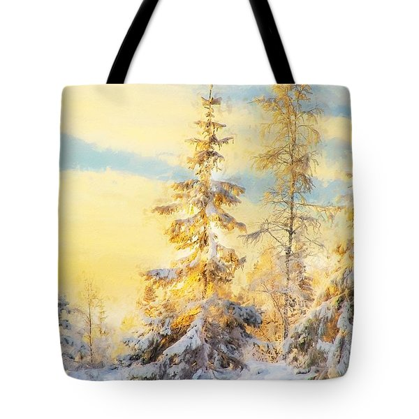 Tote Bag featuring the photograph Magical Winter Landscape by Rose-Maries Pictures