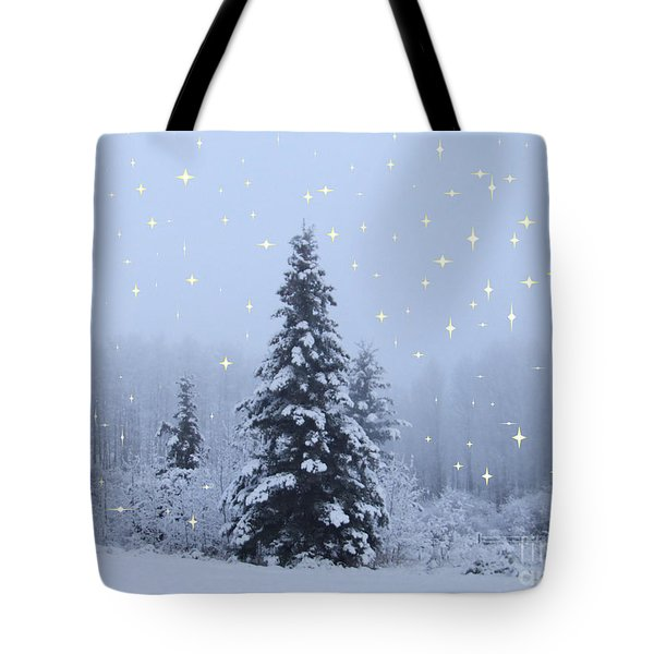 Magical Winterscape Tote Bag