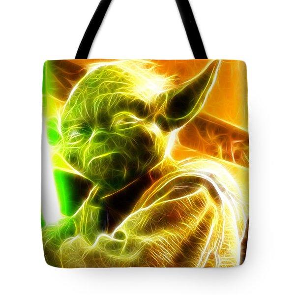 Magical Yoda Tote Bag by Paul Van Scott