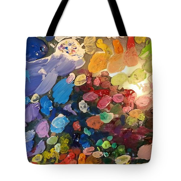 Tote Bag featuring the painting Magnetic Paint Palette by Tanielle Childers