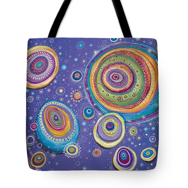 Tote Bag featuring the painting Magnetic by Tanielle Childers