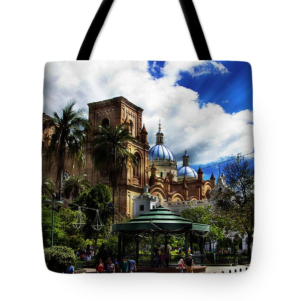 Tote Bag featuring the photograph Magnificent Center Of Cuenca, Ecuador IIi by Al Bourassa