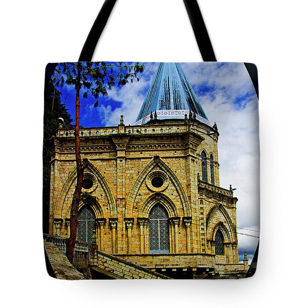 Tote Bag featuring the photograph Magnificent Church Of Biblian by Al Bourassa