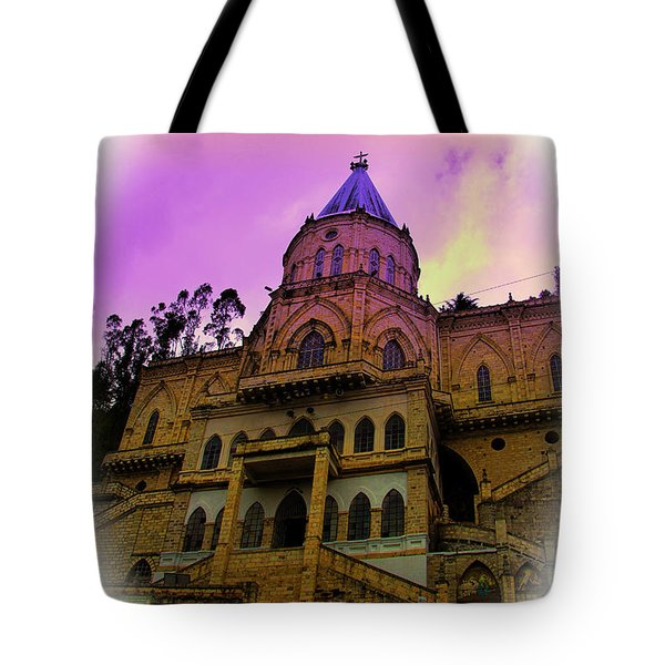Tote Bag featuring the photograph Magnificent Church Of Biblian II by Al Bourassa