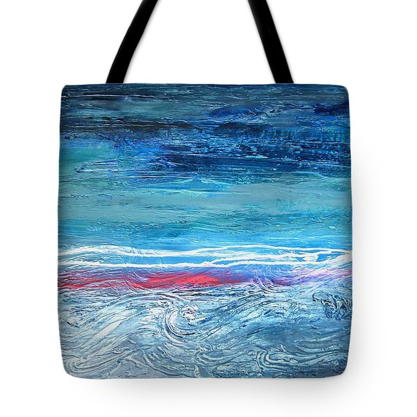 Magnificent Morning Abstract Seascape Tote Bag
