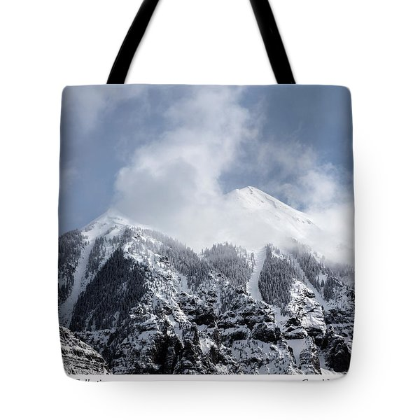 Magnificent Mountains In Telluride In Colorado Tote Bag