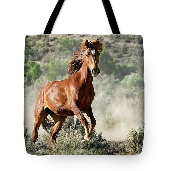Magnificent Mustang Wildness Tote Bag