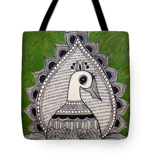 Magnificent Peacock Tote Bag