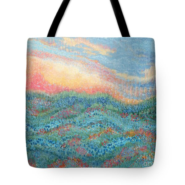Magnificent Sunset Tote Bag by Holly Carmichael