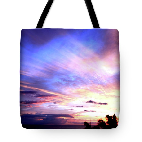 Magnificent Sunset Tote Bag by Karen Nicholson