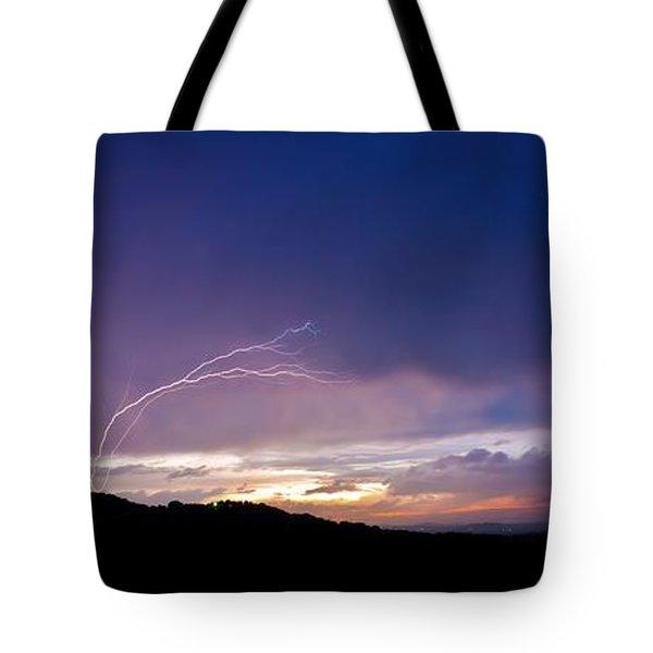Magnificent Sunset Lightning Tote Bag