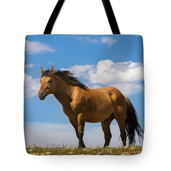 Magnificent Wild Horse Tote Bag
