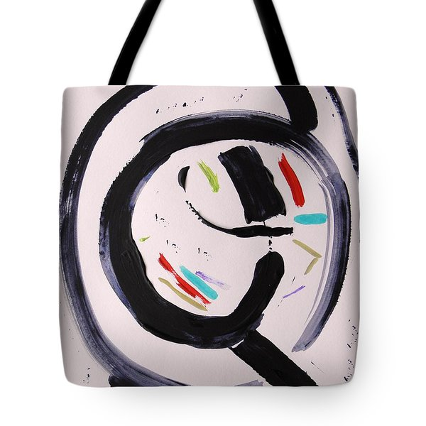 Tote Bag featuring the painting Magnifying by Mary Carol Williams