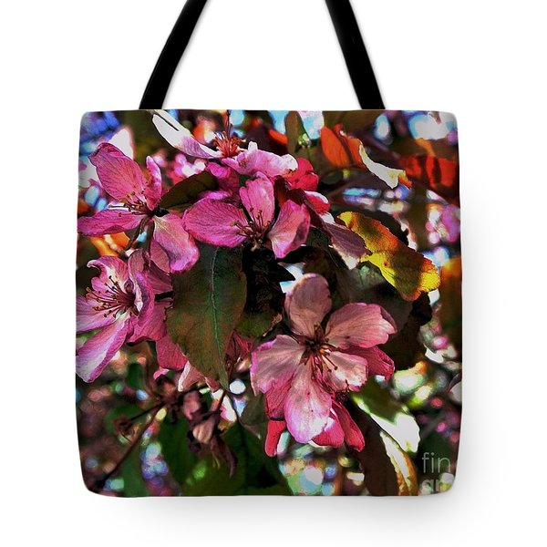 Magnolia Abstract Tote Bag by Marsha Heiken