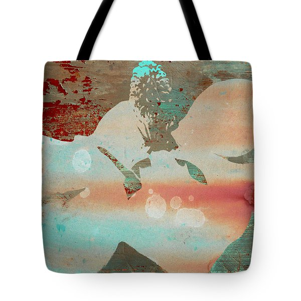 Tote Bag featuring the photograph Magnolia Blossom Abstract Collage by Suzanne Powers