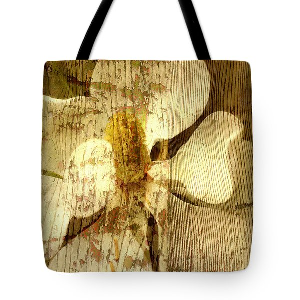 Tote Bag featuring the photograph Magnolia Blossom With Texture by Suzanne Powers