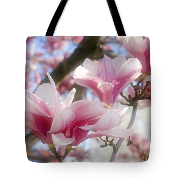 Magnolia Blossoms Tote Bag by Sandy Keeton