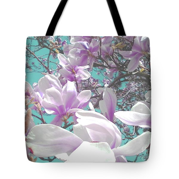 Tote Bag featuring the photograph Magnolia Charm by Rebecca Harman