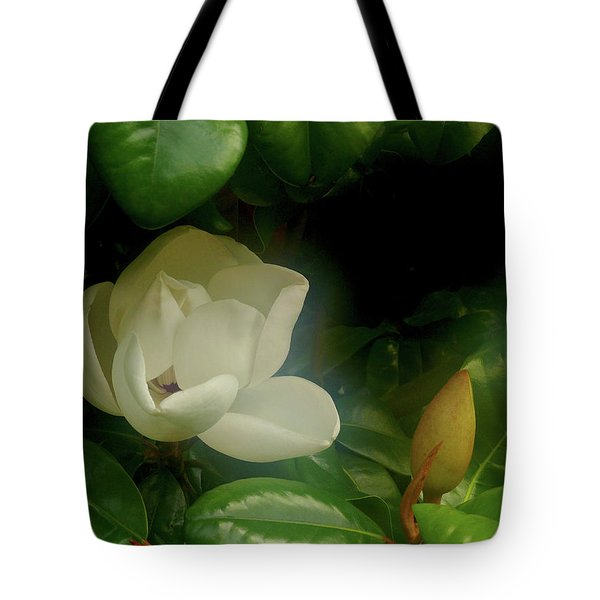 Magnolia Tote Bag by Evelyn Tambour