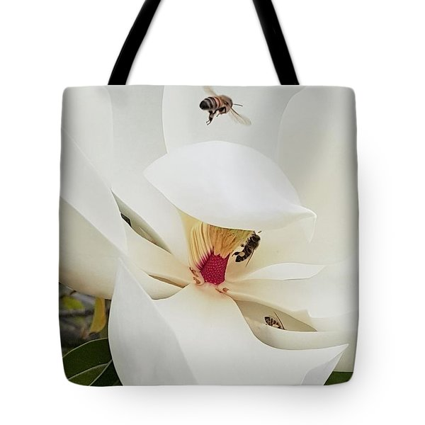 Magnolia Fans Tote Bag by Jasna Gopic