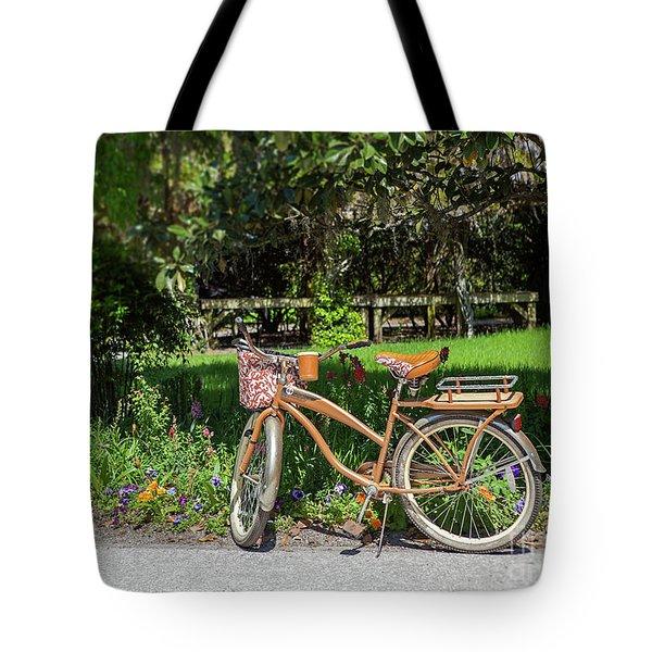 Magnolia Gardens Bicycle Tote Bag