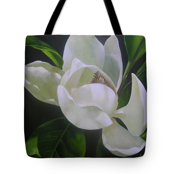 Magnolia Light Tote Bag by Chris Hobel