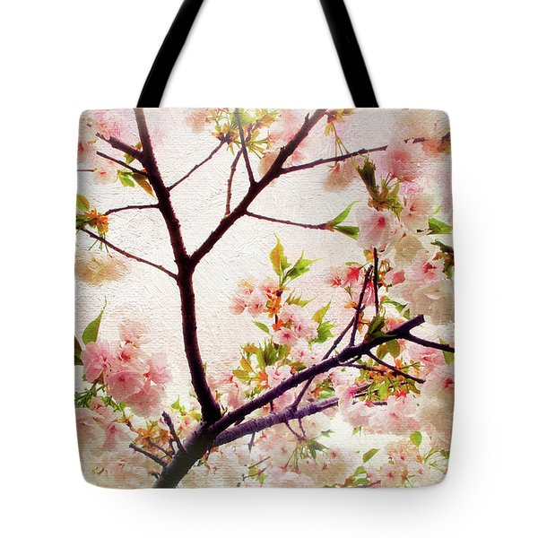 Tote Bag featuring the photograph Asian Cherry Blossoms by Jessica Jenney