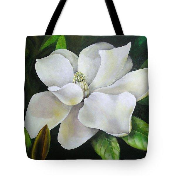 Magnolia Oil Painting Tote Bag by Chris Hobel