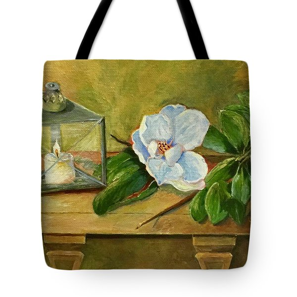 Magnolia On Mantel  Tote Bag