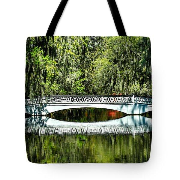 Magnolia Plantation Bridge - Charleston Sc Tote Bag