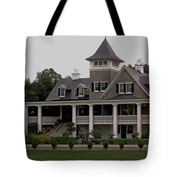 Magnolia Plantation Home Tote Bag by DigiArt Diaries by Vicky B Fuller
