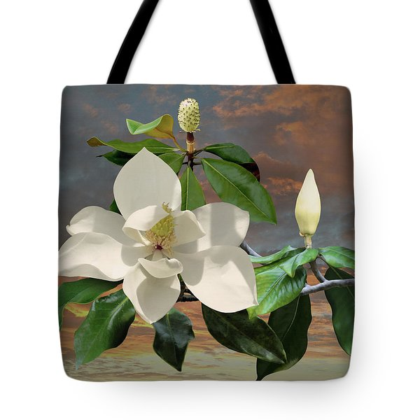 Magnolia Sunset Tote Bag