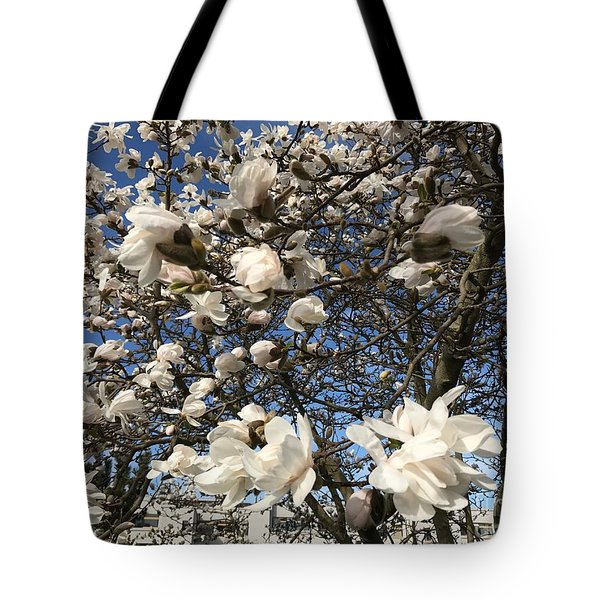 Tote Bag featuring the photograph Magnolia Tree In Blossom by Patricia Hofmeester