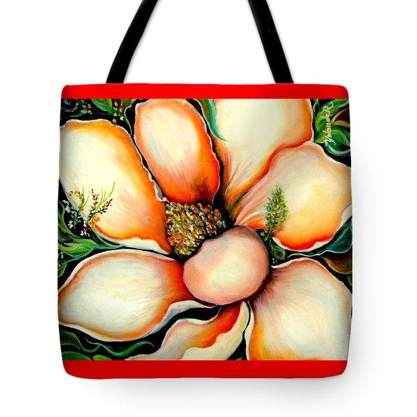 Magnolia Tote Bag by Yolanda Rodriguez