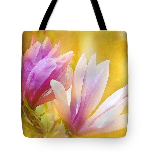 Magnolias Tote Bag by Elaine Manley