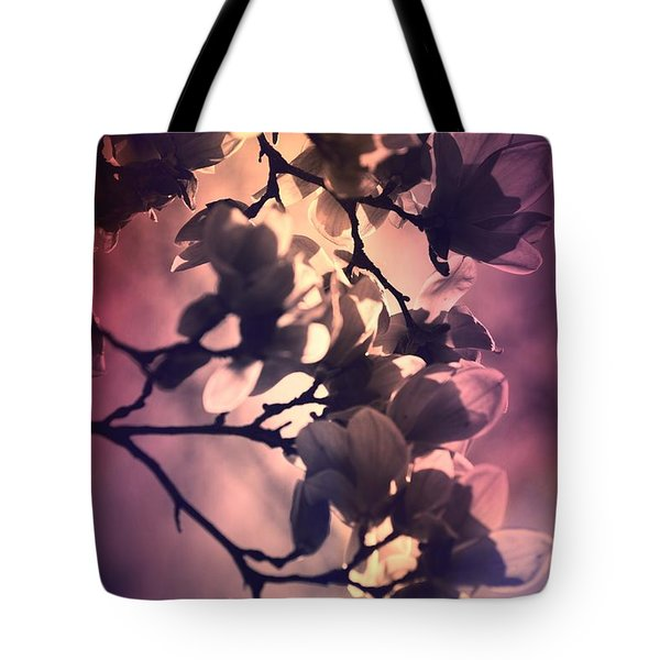 Tote Bag featuring the pyrography Magnolias by Karen Kersey