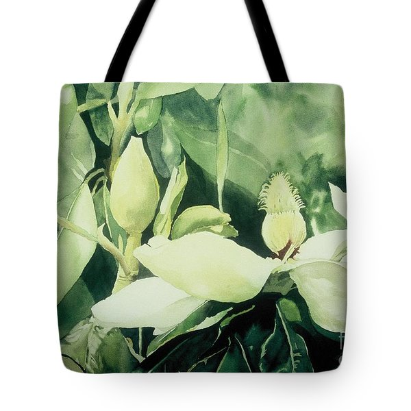Tote Bag featuring the painting Magnolium Opus by Elizabeth Carr