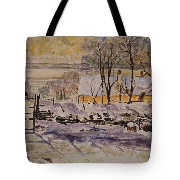 Magpie After Claude Monet Tote Bag