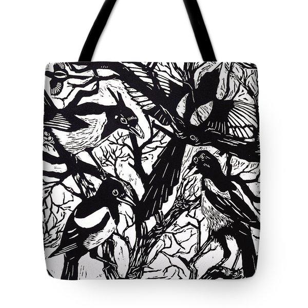 Magpies Tote Bag by Nat Morley