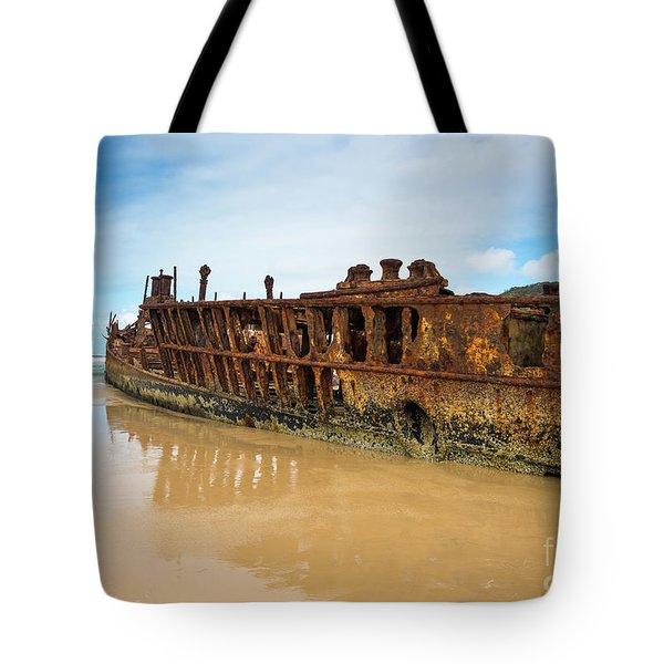 Maheno Shipwreck Tote Bag