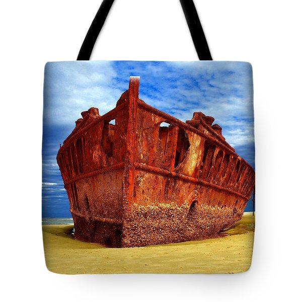Maheno Shipwreck Fraser Island Queensland Australia Tote Bag
